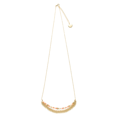 Collier Corail saumon