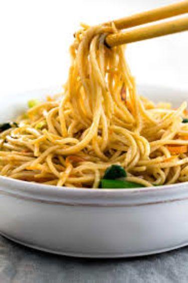 Noodles with Pak Choi & Mushrooms