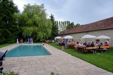 Espace brunch ( piscine)